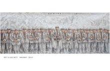 郭永洁抗战系列国画之一《东北抗日联军》